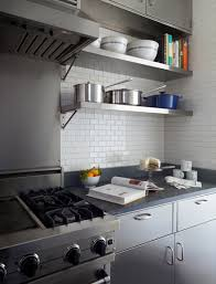 Image Wall Mounted Stainless Steel Kitchen Cabinets Decorpad Stainless Steel Kitchen Cabinets Contemporary Kitchen