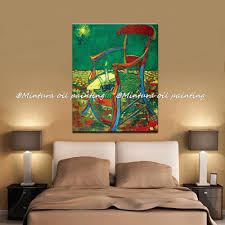 Gauguin's Chair Of Vincent Van Gogh 100% Hand Made High Q. Reproduction Oil  Painting