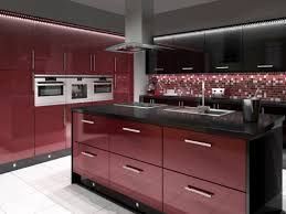 Red And Black Kitchen Red And Black Kitchens Homes Design Inspiration