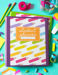 Printable Student Planner For Elementary Middle School