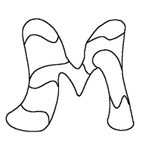 Small Picture Ornamental Letter M Coloring Page Download Print Online