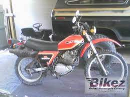 1981 honda xl 500 s specifications and