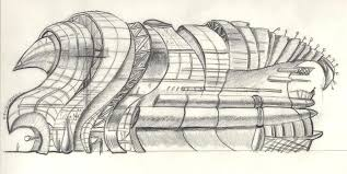 modern architecture sketch. Armadillo Drawing - Concept Sketch Of Modern Architecture Shopping Center By Charles And Stacey Matthews
