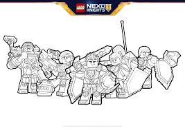 Ready For Battle Coloring Pages Lego Nexo Knights Legocom Us