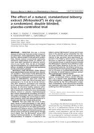 (PDF) The effect of a natural, <b>standardized bilberry extract</b> ...