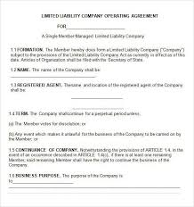 template for llc operating agreement single member llc operating agreement template free operating