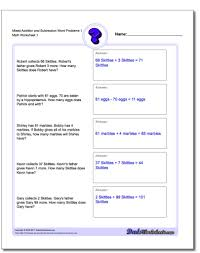 8 word problems worksheets