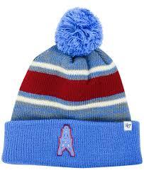 Deadstock houston oilers nfl gameface winter ski mask helmet goldenbeargarage. 47 Brand Houston Oilers Fairfax Pom Knit Hat Sports Fan Shop By Lids Men Macy S Houston Oilers Knitted Hats 47 Brand