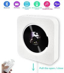 portable wall mountable wireless bluetooth cd player built in hifi speakers
