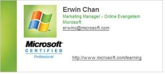 microsoft business card virtual business cards for microsoft certified professionals ditii com