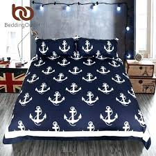 anchor navy and white sheets blue twin xl queen bedding set full