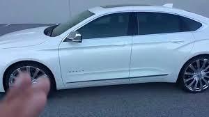 2015 Impala iridescent pearl white on 22'' Borghinis - YouTube