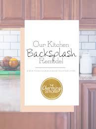 Easy Kitchen Update Diy Kitchen Backsplash Remodel The Charming Detroiter