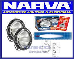 Narva Hid Lights Narva Extreme Hid Spread Flood Beam Spotlights Lamp Kit Black Pair 71758hid