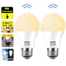 Ebay Light Bulbs Motion Sensor Led Light Bulb 9w A19 Pir Built In Ir 60w Equivalent Bright 810