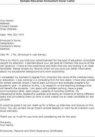 education consultant cover letter example cover letter for student teacher supervisor with 19