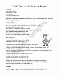Service Technician Resume Sample Field Technician Resume Sample Best Of Field Service Technician 11