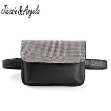 Jiessie & <b>Angela</b> New Shinny Crystal Fanny Pack Long Belt <b>Bags</b> ...