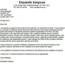 receptionist cover letter example sample receptionist resume cover letter