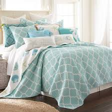 soft teal bedroom paint. Dive Into Pure, Coastal Comfort With The Levtex Home Southport Reversible Quilt Set. Its Soft Moroccan Ogee Print Lends Modern Flair To Any Room, Teal Bedroom Paint