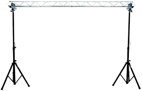pro audio dj 2 adjule 6 foot height tripod stands with truss bar adapters 2 american dj light truss 5 foot sections
