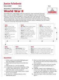 World War Ii Teaching Resources Worksheets And Lesson Plans