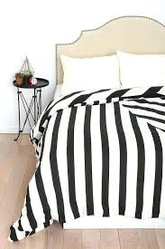 black and white thin striped comforter duvet cover soft fuzzy