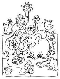 Kleurplaat Dieren In De Dierentuin Kleurplatennl Aaa Dibujos En
