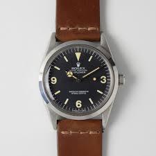 1969 rolex explorer 1016 tritium service dial veblenist watch straps custom leather watch bands