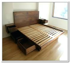 diy storage bed frame nexspaceco