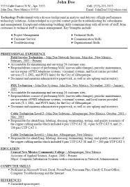 Nice Field Service Technician Resume Format With Professional
