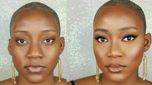 amazing makeup transformation bronzed glowy skin for black women full face you