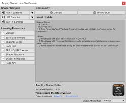 Unity Products:Amplify Shader Editor/Scriptable Rendering Pipeline ...