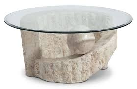 furniture appealing stone coffee table with round glass table top