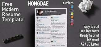 Free Contemporary Resume Templates 13 Reinadela Selva