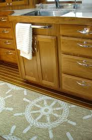 outfitting a yacht galley with nautical rugs