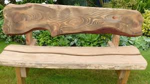 rustic outdoor bench style