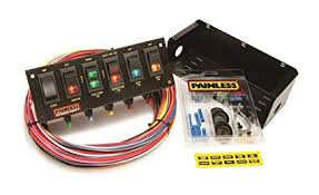 amazon com painless wiring 50302 race car 6 switch panel automotive Race Car Wiring Setup at Painless Wiring Drag Car