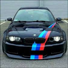 black bmw m3 e46. bmw e46 m3 black m stripe slammed bmw n