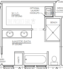 master bathroom floor plans with walk in closet.  Closet Master Bathroom Floor Plans With Walk In Closet Unique  On Closet R
