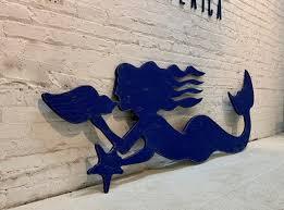 beach house decor mermaid wall art