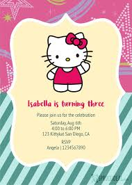Printable Hello Kitty Invitations Personalized Free Printable Hello Kitty Birthday Invitation Card Template
