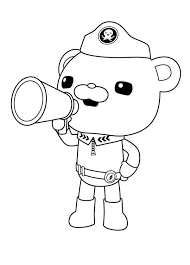 Small Picture Barnacle Animal Coloring Pages Captain Barnacles Standing In The