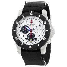 mens victorinox swiss army watch victorinox swiss army white dial black nylon strap men s watch 2416801