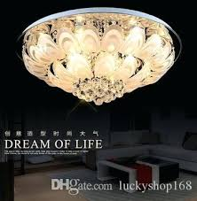 flush crystal chandelier modern round crystal chandeliers flush mount ceiling lamp led stainless steel re hanging