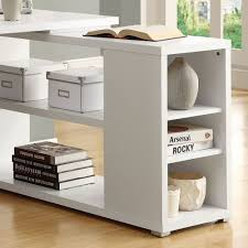 monarch white hollow core corner desk specialties left or right facing in i simple quintessence