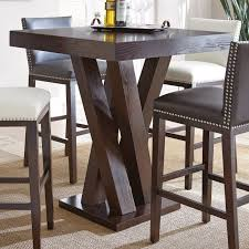steve silver tiffany square bar height table from hayneedle