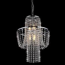 warehouse of tiffany charlotte 15 in 6 light chrome crystal crystal empire chandelier