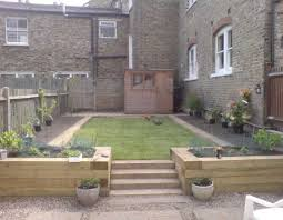 Small Picture Garden Design Ideas With Railway Sleepers Container Gardening Ideas