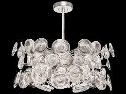 fine art lamps chrysanthemums silver 12 light 30 wide pendant light 884240st
